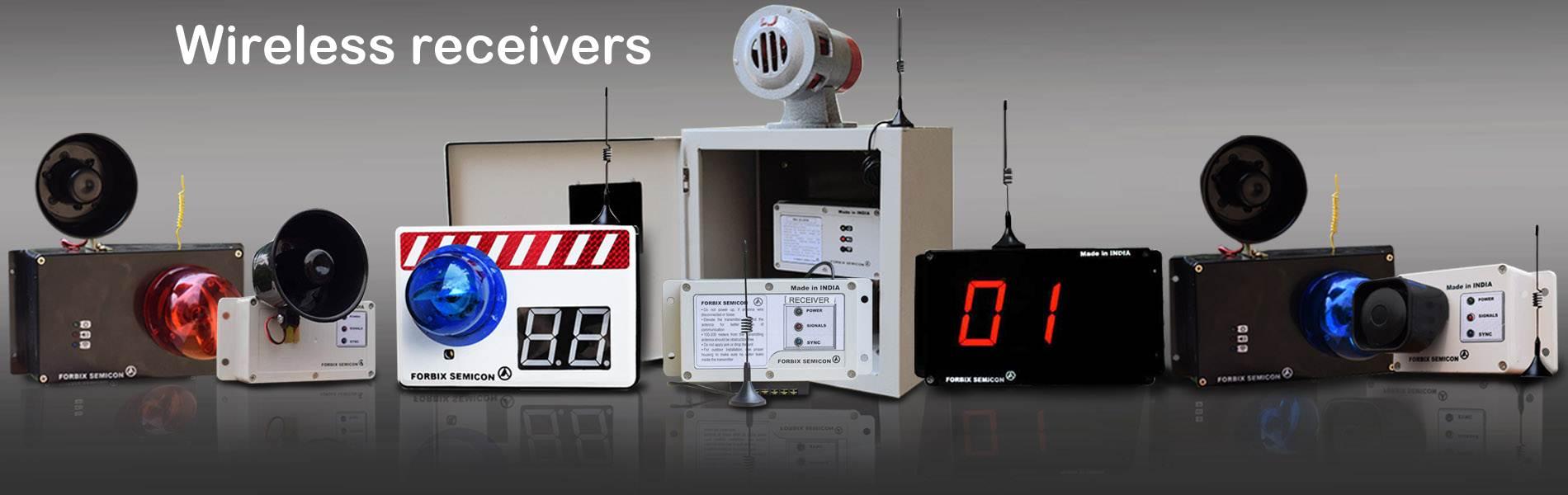 wireless receiver alarms and sirens